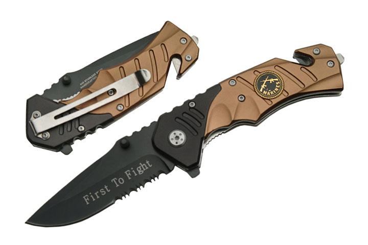Couteau Marines métal 19,5cm - MA921