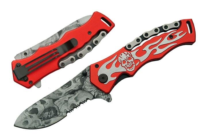 Couteau squelette 21cm métal déco - RD283