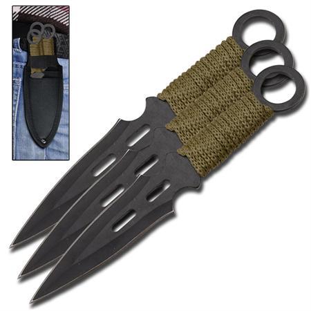 3 Couteaux Falcons de lancer, couteau jet - TK9044