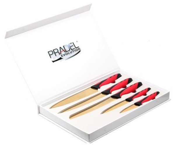 Coffret Pradel Evolution 5 couteaux - titane C8220