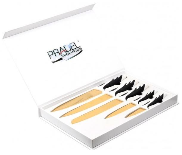 Coffret Pradel Evolution 5 couteaux - titane C8236