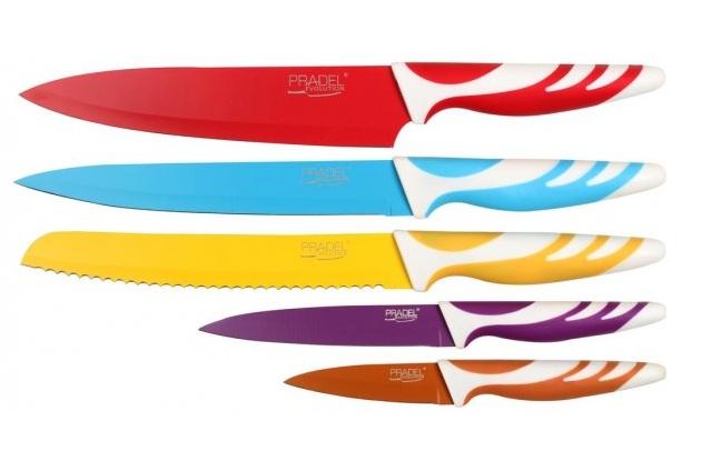 coffret pradel evolution 5 couteaux couleur c8230 art de la table couteau azur. Black Bedroom Furniture Sets. Home Design Ideas