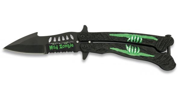 Couteau papillon 22cm Zombie - balisong