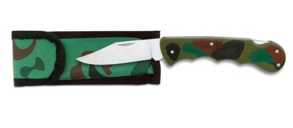 Couteau militaire 19,5cm camouflage + étui