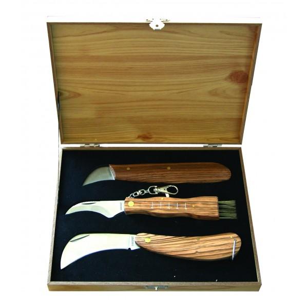 Coffret 3 couteaux champignon serpette - Virginia