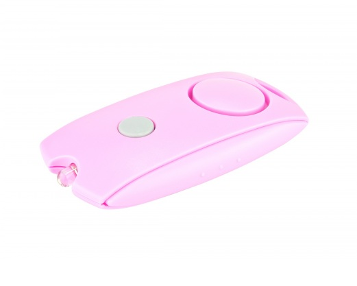 Alarme personnelle compact LED - rose