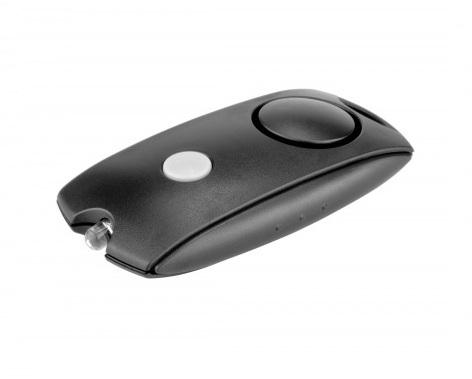 Alarme personnelle 120dB compact LED - noir