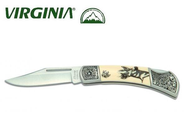 Couteau pliant Virginia - déco chevreuil