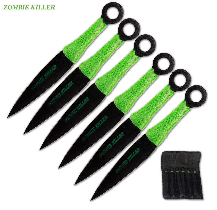 6 couteaux de lancer Naruto - couteau kunaï