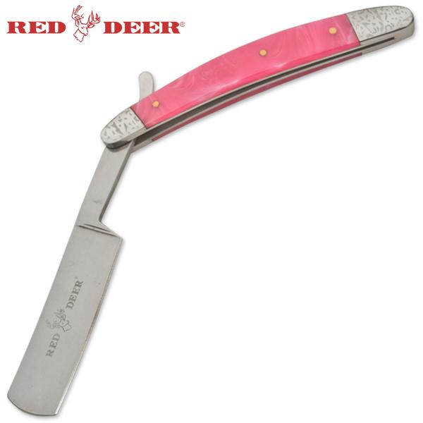 Rasoir rose 24,5cm barbe barbier - Red Deer