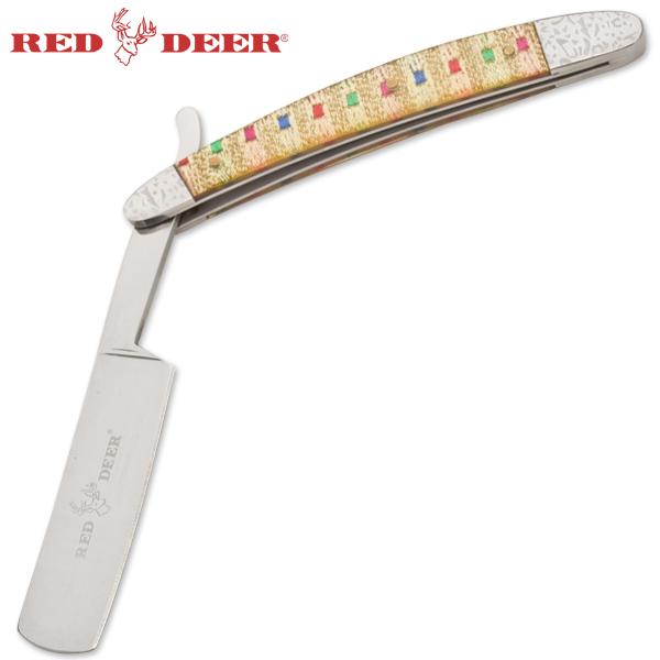 Rasoir nacré 24,5cm barbe barbier - Red Deer