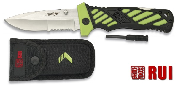 Couteau + pierre fire starter - RUI énergie serie