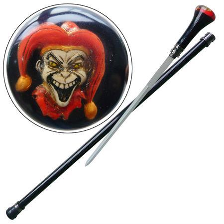Canne épée 89cm de marche - diable joker