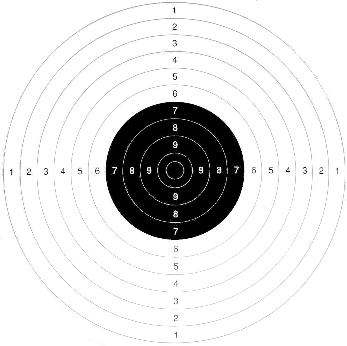 Pack 10 cibles de 13cm - cible