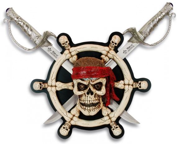 Arme p es p e socle squelette pirate des cara bes - Decoration pirate des caraibes ...