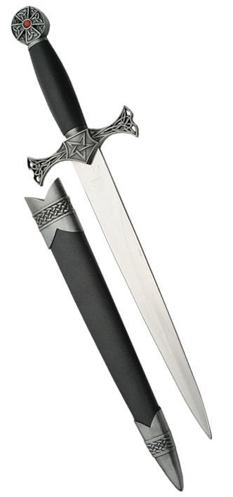 Dague celtique en métal - inclus fourreau