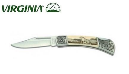 Couteau pliant Virginia - déco léopard