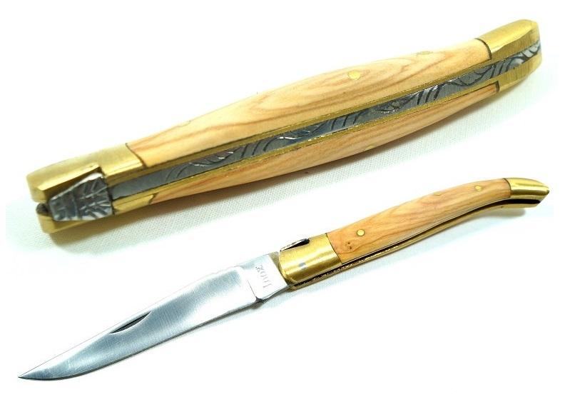 Couteau pliant 21,5cm - bois laiton