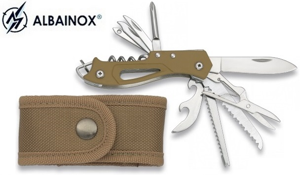 Couteau multifonction 10 outils - Albainox