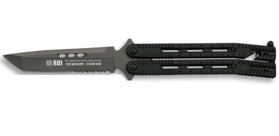 grand balisong couteau papillon 25cm rui titane couteau papillon couteau azur. Black Bedroom Furniture Sets. Home Design Ideas