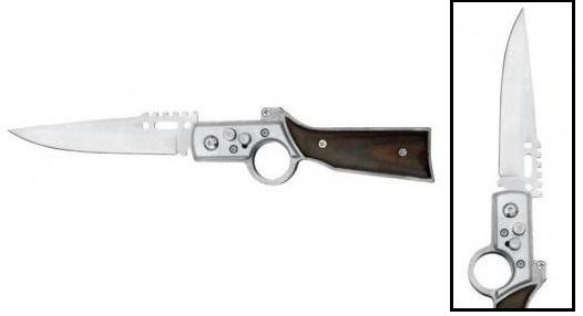 Couteau automatique cran d'arret 21cm - Design fusil