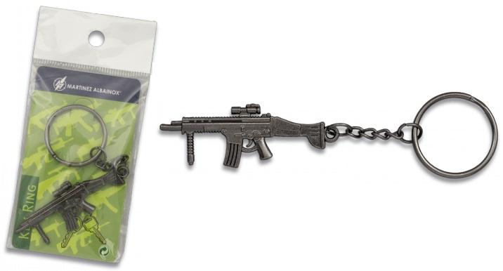 Porte-clé gun acier inox série 6 - Design original