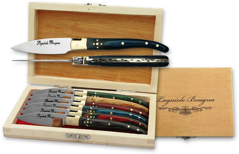 Coffret LAGUIOLE 6 couteaux à huitre 14,8cm - couteau compact