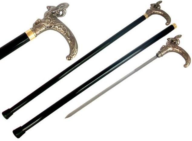 Canne épée 91cm bélier de marche - métal