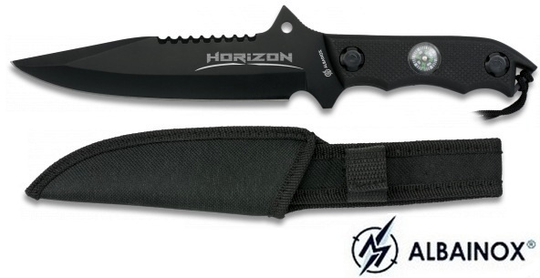 Poignard horizon 29cm + boussole - Couteau ALBAINOX