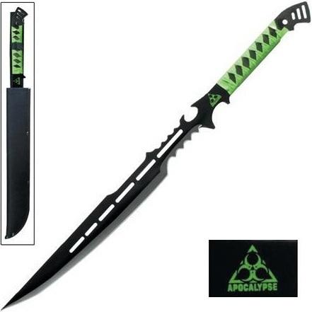 Epée fantastique 71cm Zombie Apocalypse - Full tang