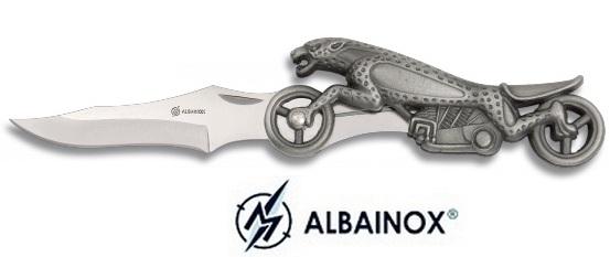 Couteau moto léopard 17,5cm - Albainox