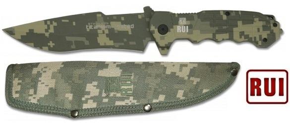 Poignard couteau tactique 26,5cm - Titane RUI
