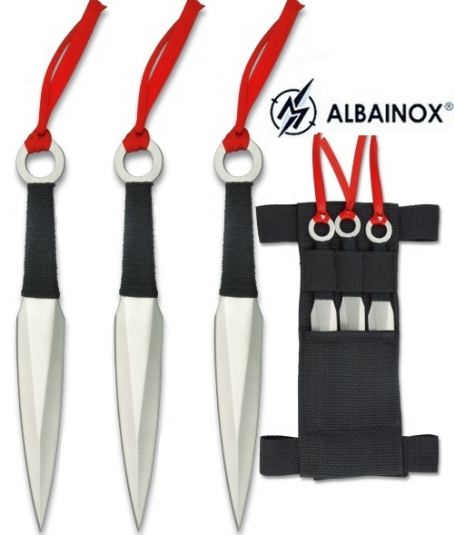 3 Couteaux de lancer 16cm kunaï - Couteau full tang