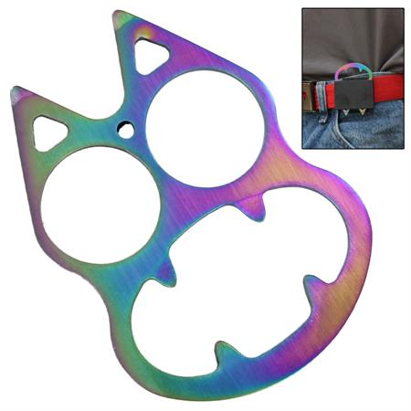 Poing américain décapsuleur USA, acier multicolore