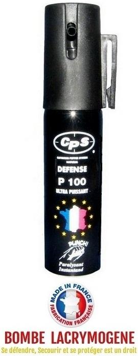 Bombe lacrymogène 25ml GEL POIVRE - aérosol spray lacrymo