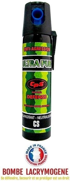 Bombe lacrymogène 75ml GEL POIVRE - aérosol spray lacrymo