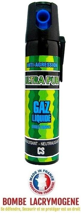 Bombe lacrymogène 75ml aérosol spray lacrymo - GAZ CS