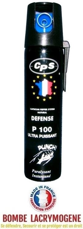 Bombe lacrymogène 75ml GEL POIVRE - aérosol spray lacrymo...