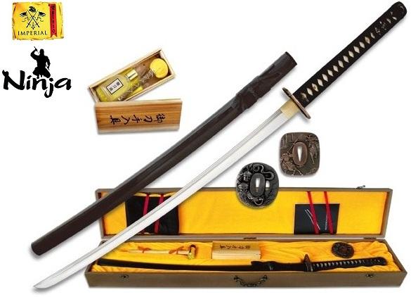 Coffret katana 105cm avec lame carbone - accessoires