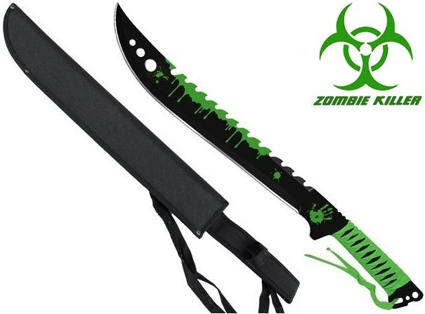 Machette épée Zombie Eradicator 63cm - Full Tang acier