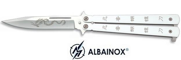 Balisong couteau papillon 22,5cm dragon ninja - ALBAINOX