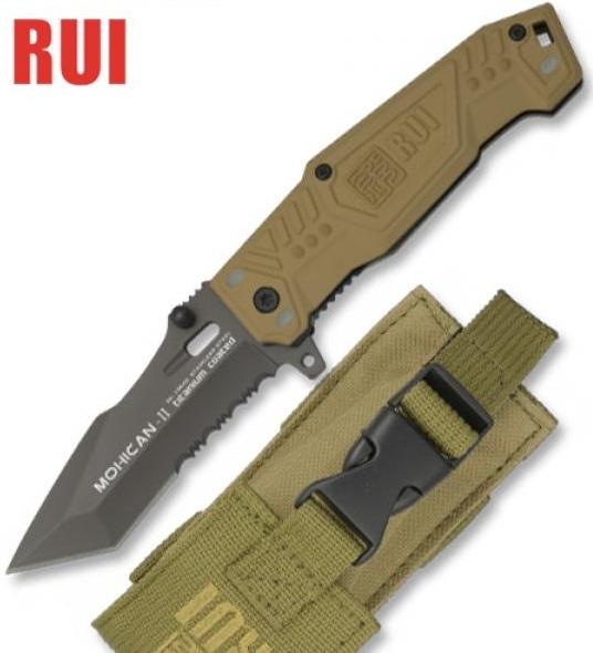 Couteau tactique TITANE 17,8cm coyote - RUI