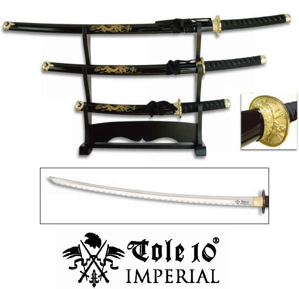 lot 3 katanas dragon socle dco katana japonais
