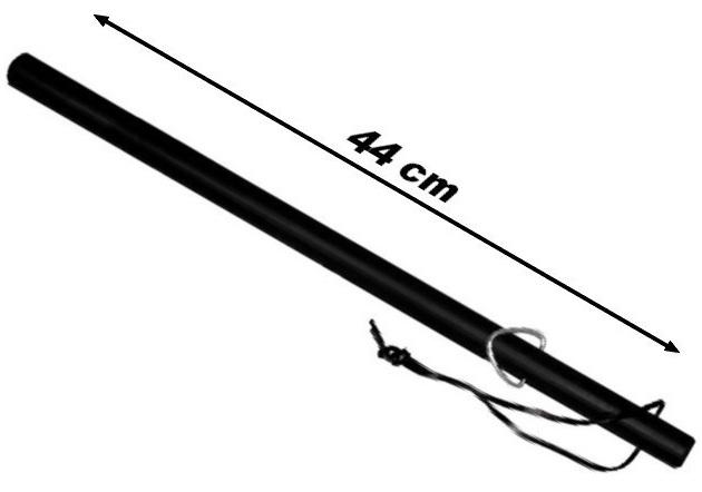 Matraque caoutchouc 44cm baton - résistante et maniable
