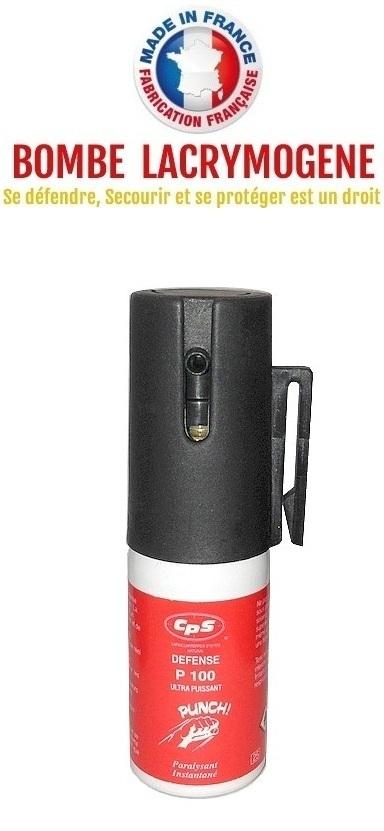 Bombe lacrymogène 15ml GEL POIVRE - Lacrymo défense