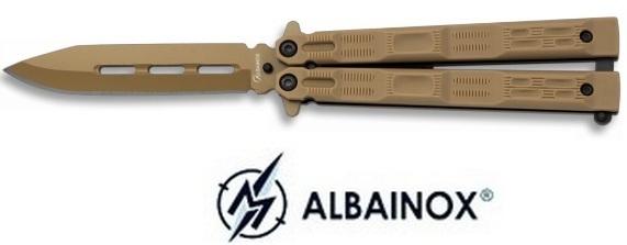 Balisong couteau papillon 19,5cm coyote - ALBAINOX