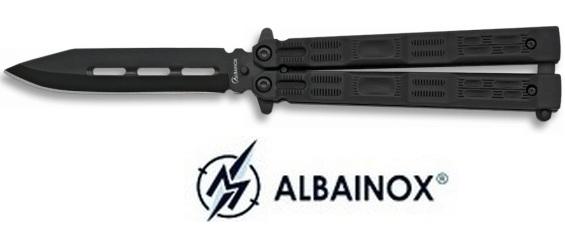 Balisong couteau papillon 19,5cm noir - ALBAINOX
