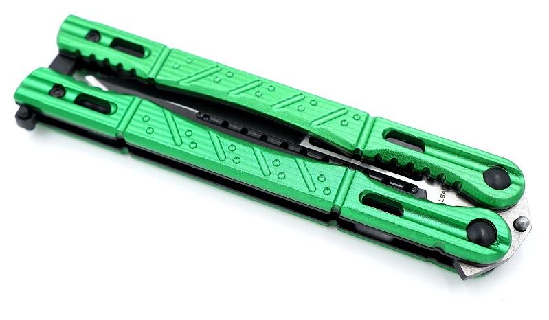couteau papillon vert