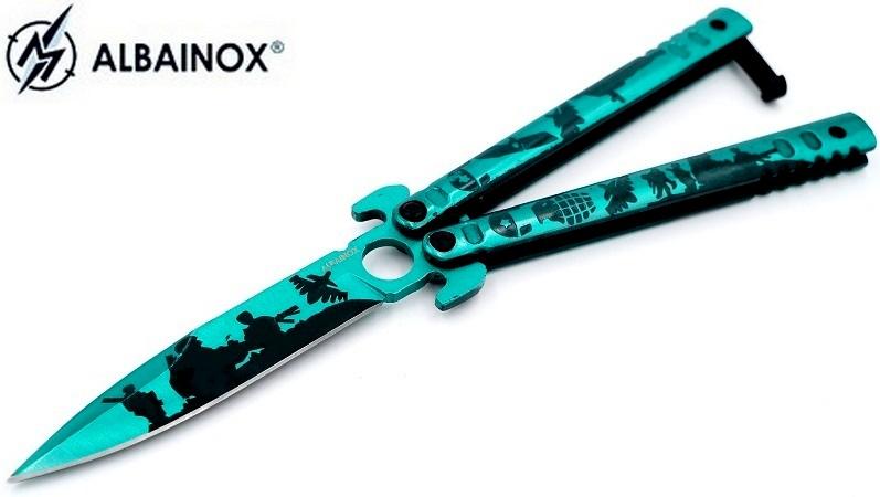 Balisong couteau papillon 22cm warrior - ALBAINOX