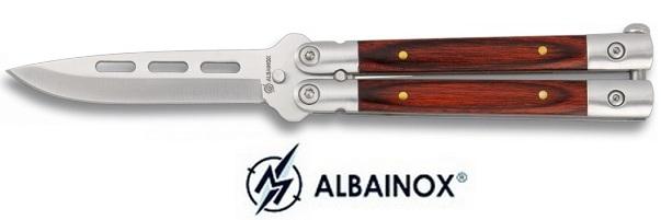 Couteau papillon 15,5cm balisong - ALBAINOX